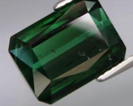 5.36Ct.Ravishing Color! Natural BIG Bluish Green Tourmaline Perfect Shape!