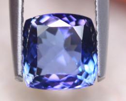 1.83ct Natural Violet Blue Tanzanite Cushion Cut Lot GW7817