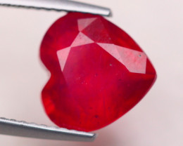 4.90Ct Blood Red Color Ruby Heart Cut Lot LZ7049