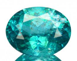 ~PRETTY~ 1.41 Cts Natural Apatite Paraiba Blue Green Color Oval Cut Brazil