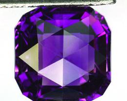 ~CUSTOM CUT~ 6.69 Cts Natural Purple Amethyst Fancy Cushion Bolivia