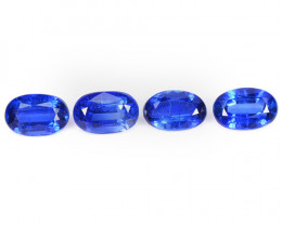 2.85 Cts 4 Pcs Fancy Royal Blue Color Natural Kyanite Gemstone Parcel