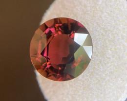 6.63ct Pinkish Purple Tourmaline Deep Orange Pink Purple Rubellite Oval Cut