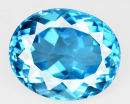 20.32 Carat Super Swiss Blue Natural Topaz Gemstone