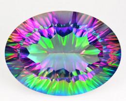 24.27 Cts Rare Fancy Multi Color Natural Mystic Quartz