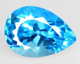 14.72 Carat Swiss Blue Natural Topaz Gemstone