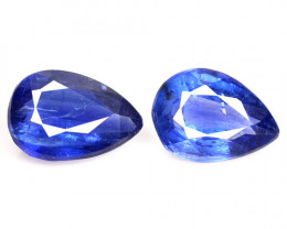 2.52 Cts 2 Pcs Fancy Royal Blue Color Natural Kyanite Gemstone