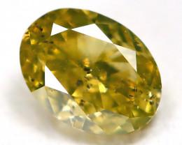 Greenish Orange Diamond 0.28Ct Natural Untreated Fancy Diamond C1804