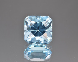 Natural Blue Topaz 6.74 Cts Perfect Precision Cut