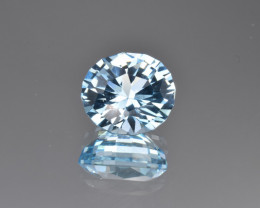 Natural Blue Topaz 10.21 Cts Perfect Precision Cut
