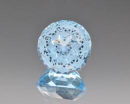 Natural Blue Topaz 18.31 Cts Perfect Precision Cut