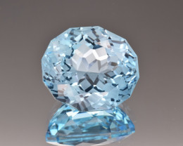 Natural Blue Topaz 23.90 Cts Perfect Precision Cut