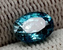 1.81CT BLUE ZIRCON BEST QUALITY GEMSTONE IIGC35