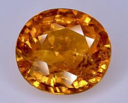 1.79 Crt Natural  Spessartite Garnet Faceted Gemstone.( AB 28)