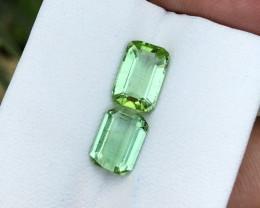 3.50 Ct Natural Green  Transparent Tourmaline Gems Parcels