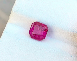 1.30 Ct Natural Reddish Transparent Tourmaline Gemstone