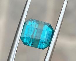 2.80 Ct Natural Blueish Transparent Ring Size Tourmaline Gemstone