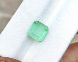 3.95 Ct Natural Green Transparent Tourmaline Ring Size Gemstone