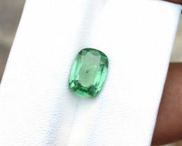 2.10 Ct Natural Green Transparent Tourmaline Ring Size Gemstone