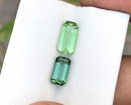 2.90 Ct Natural Green & Blue Transparent Tourmaline Gems Parcels
