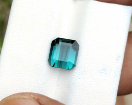2.70 Ct Natural Blueish Transparent Ring Size Tourmaline Gemstone