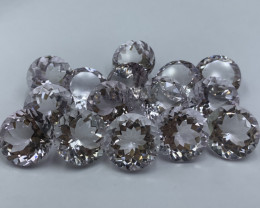 241.10 CT Amethyst  Gemstones Light color Top luster Round shape / 15 pc