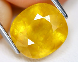 Yellow Sapphire 7.88Ct Cushion Cut Yellow Color Sapphire B1907