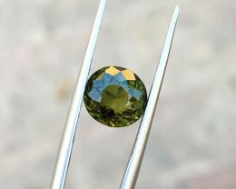 2.60 Ct Natural Dark Olive Green Transparent Tourmaline Gemstone