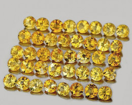 1.80 mm Round 50 pcs 1.15cts Golden Yellow Citrine [VVS]