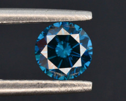 0.47 ct Clarity SI2 Natural blue Diamond Round Brilliant Cut t