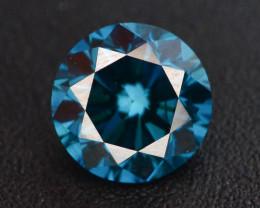 0.45 ct Natural blue Diamond Round Brilliant Cut t
