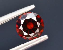 0.75 ct Natural Red Diamond Round Brilliant Cut t