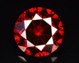 0.65 ct Natural Red Diamond Round Brilliant Cut t