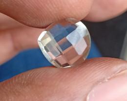 GREEN AMETHYST CHECKERED CUT Natural Gemstone VA273