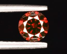0.50 ct Natural Red Diamond Round Brilliant Cut t