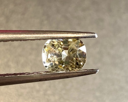 0.86ct unheated yellow sapphire