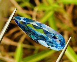 3.57 ct  Blue Aquamarine With Fine Cutting Gemstone  gemsstone