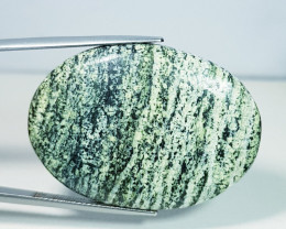 44.95 ct Natural Green Suzi Opal Oval Cabochon  Gemstone