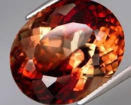23.90 ct. 100% Natural Earth Mined Topaz Orangey Brown Brazil