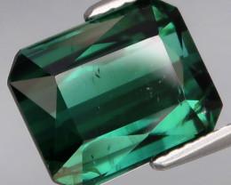 4.91 Ct.Ravishing Color! Natural BIG Bluish Green Tourmaline Perfect Shape!