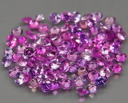 3.84 ct. 1.7 - 2.3 mm. DIAMOND CUT PINK SAPPHIRE NATURAL GEMSTONE - 100Pc.