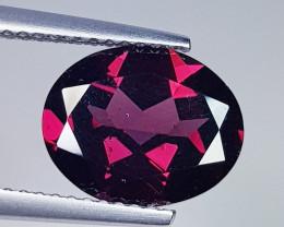 3.84 ct Top Grade Oval Cut Natural Purple Pink Rhodolite Garnet