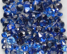 4.30 Ct. 1.7 -2.0 mm Natural Cornflower Blue Sapphire Sri Lanka Diamond Cut