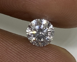 (A) EGL Certified Nat Beautiful  0.55 cts I1 Untreated White Round Loose Di