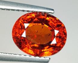 3.78 ct Top Grade Gem  Oval Cut Orange Spessartite Garnet