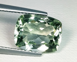4.38 ct AAA Quality Fantastic Cushion Cut Natural Green Amethyst