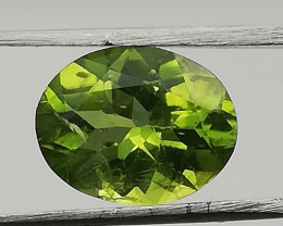 Peridot, 2.395ct, olive green gem born in Arizona!