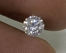 (D) EGL Certified Stunning  0.46cts I1Untreated Nat White Round Loose Diamo