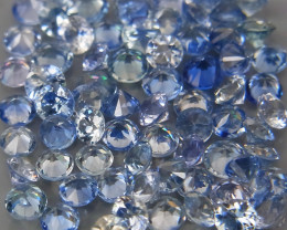 3.91Ct/ 85Pcs/2.0-2.2 mm. Natural Earth Mined Cornflower Blue Sapphire