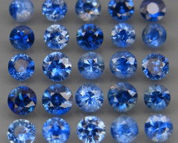 3.37Ct/25 Pcs/2.8-3.5 mm. Natural Earth Mined Cornflower Blue Sapphire